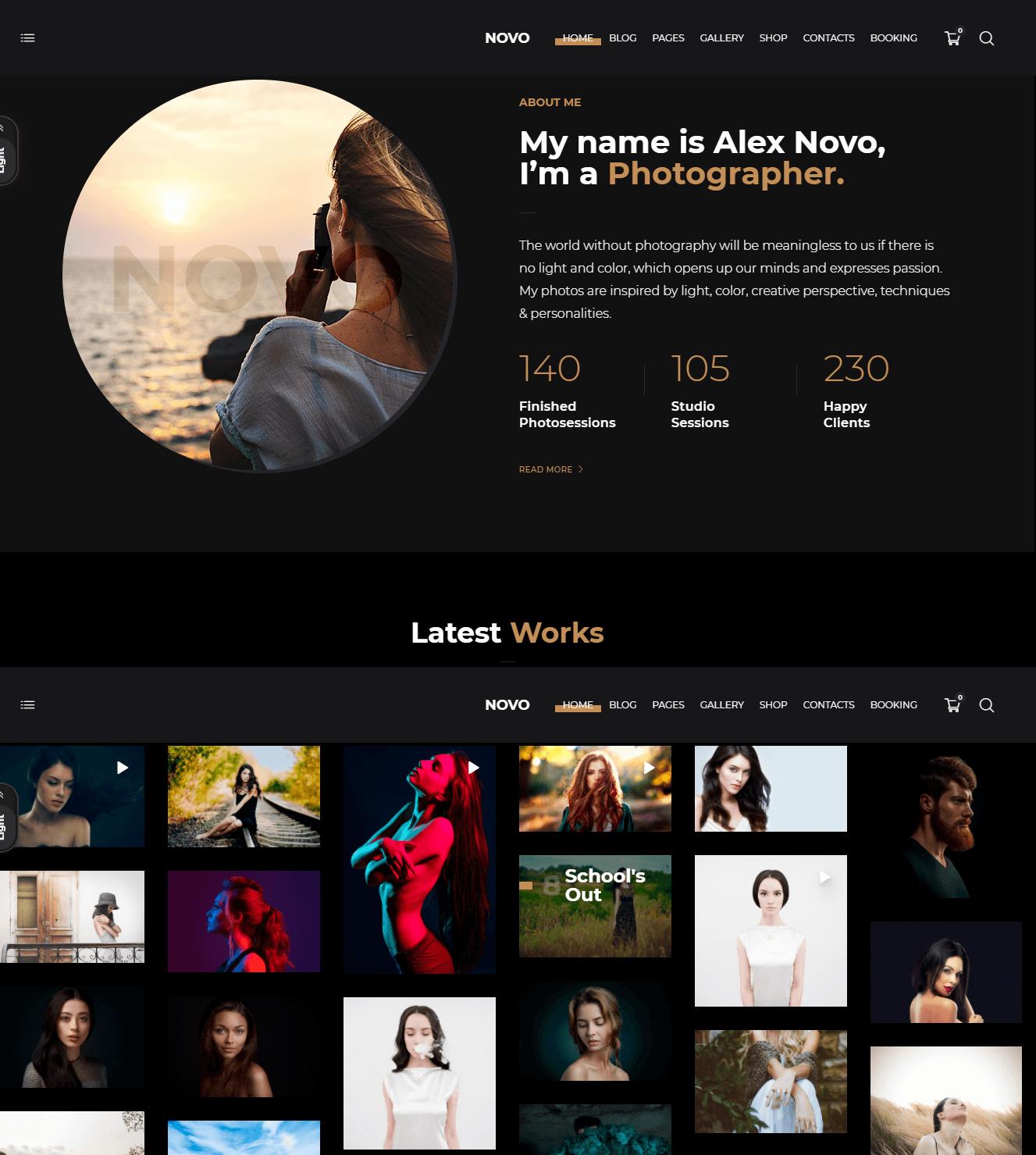 Novo-Photography-WordPress-Theme
